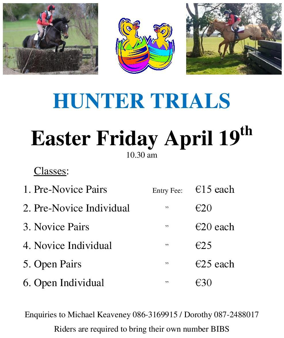 Hunter Trials (Good Friday)
