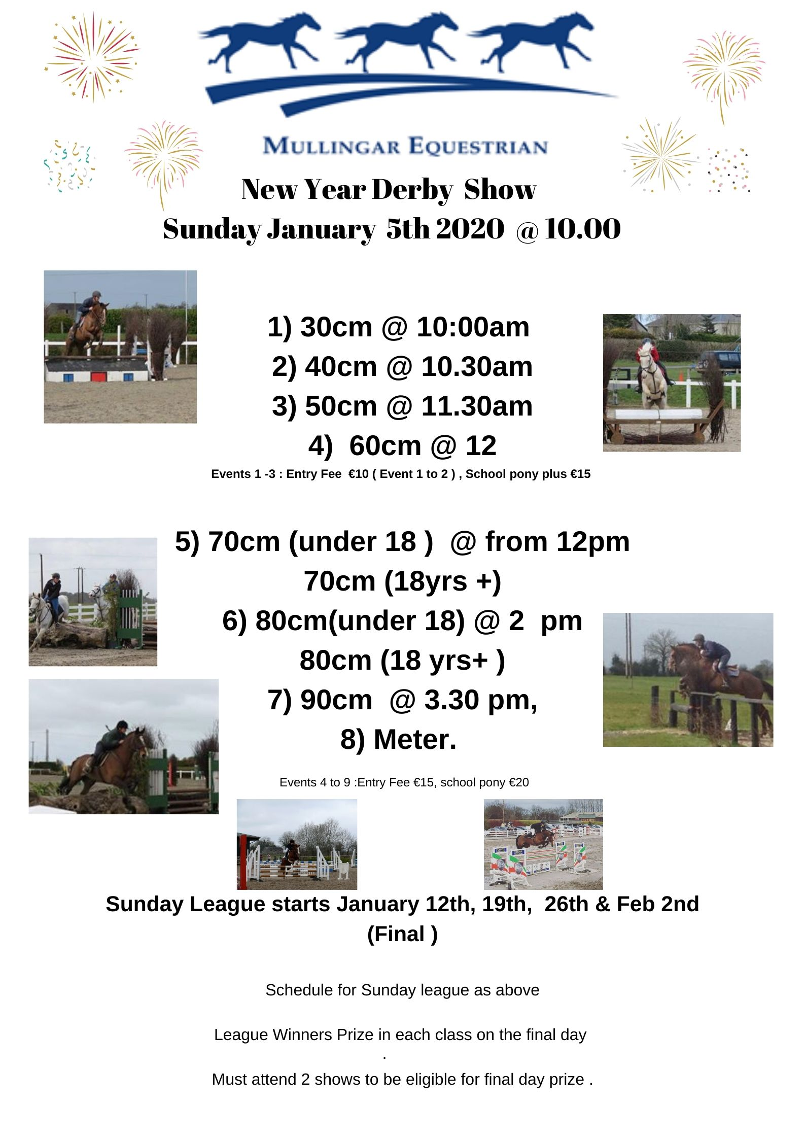 New Year Indoor Derby Show  & RESULTS