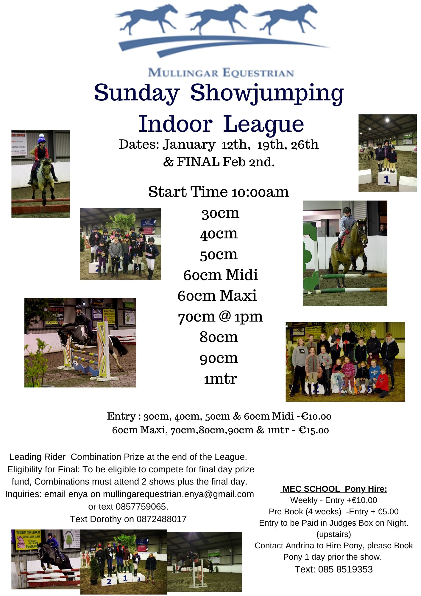 Sunday Indoor Showjumping League